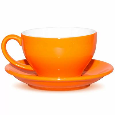 Чашка с блюдцем Barista (Бариста) 300 мл, оранжевая, P.L. Proff Cuisine