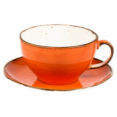 Чашка с блюдцем Fusion Orange Sky 375 мл, P.L. Proff Cuisine